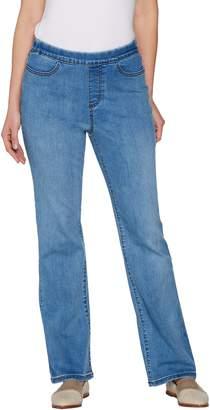 Denim & Co. Petite Modern Denim Lightly Bootcut Pull-on Jeans
