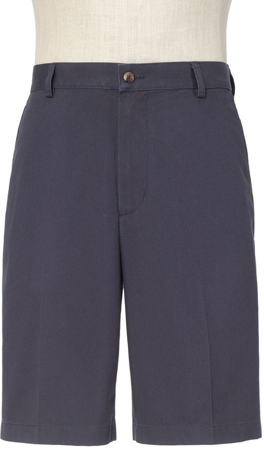 Jos. A. Bank Traveler Cotton Shorts Tailored Fit Plain Front