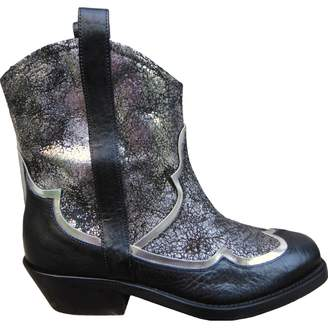 Rupert Sanderson Silver Leather Ankle boots