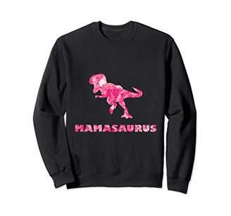 Cute Mamasaurus Sweatshirt with Floral Dinosaur