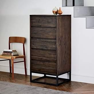 west elm Logan Industrial 5-Drawer Dresser - Smoked Brown