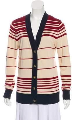 Tory Burch Long Sleeve Stripe Cardigan