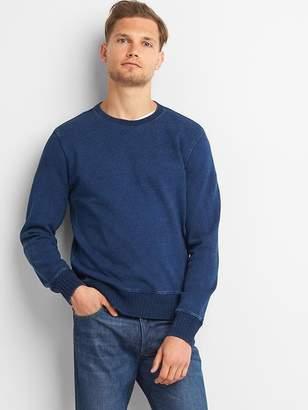 Indigo crewneck pullover