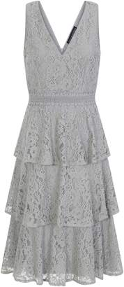 Dorothy Perkins Womens **Little Mistress Green Lace Tier Midi Dress