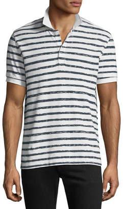 ATM Anthony Thomas Melillo Men's Striped Pique Polo Shirt