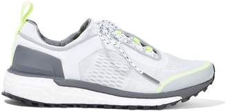 adidas by Stella McCartney Supernova Trail Neon-trimmed Mesh Sneakers