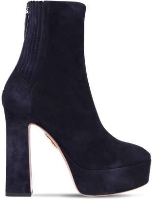 Aquazzura 125mm Saint Honoré Suede Ankle Boots