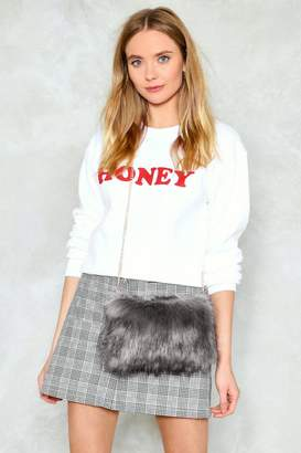 Nasty Gal WANT Feelin' Myself Faux Fur Crossbody Bag