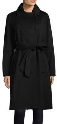 Sofia Cashmere Long Wrap Coat