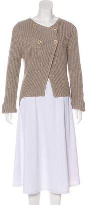 Brunello Cucinelli Double-Breasted High-Low Sweater