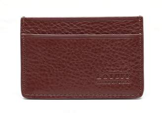 Lotuff Leather Lotuff Chestnut Leather Credit Card Wallet