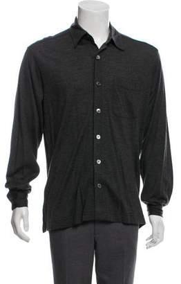 Hermes Knit Button-Up Shirt