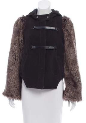 Leifsdottir Hooded Faux-Fur Trimmed Coat