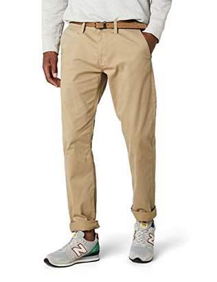 Tom Tailor Men's Trousers Travis Casual Chino w / Belt, Beige (chinchilla 8443), 34/32