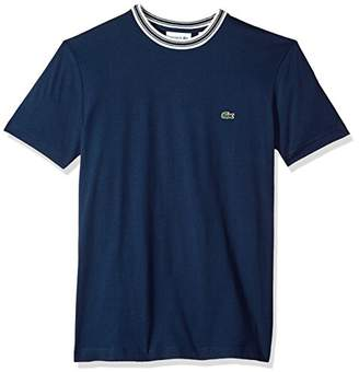 Lacoste Men's Short Sleeve Semi Fancy Jersey Regular Fit T-Shirt