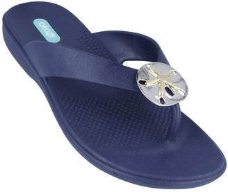 OKA b. OkaB Metallic Sand Dollar Sandals - Sandy