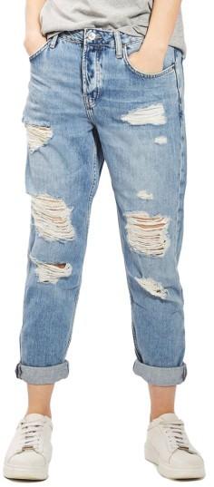 TopshopWomen's Topshop Hayden Super Ripped Boyfriend Jeans