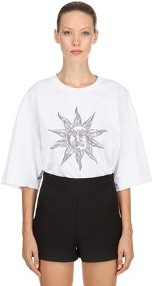 Fausto Puglisi Oversize Printed Cotton Jersey T-Shirt