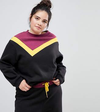 South Beach Plus Color Block Sweatshirt