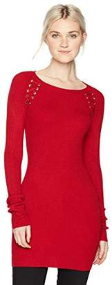 Amy Byer A. Byer Long Sleeve Crew Neck Sweater Tunic (Junior's)