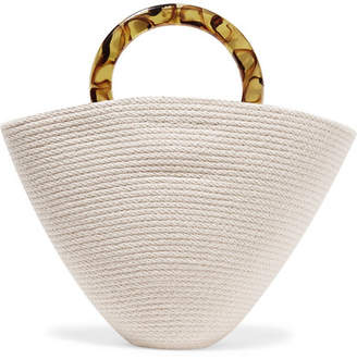 Catzorange - Cosimo Large Woven Cotton Tote - Cream