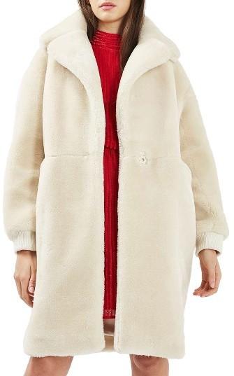 TopshopWomen's Topshop Polar Bear Faux Fur Coat