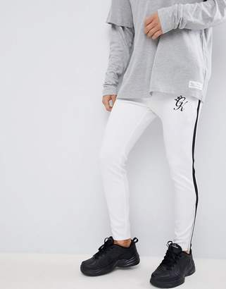 Gym King skinny logo jogger in white