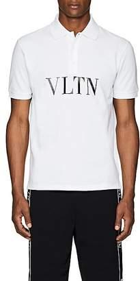 Valentino Men's Logo Cotton Polo Shirt - White
