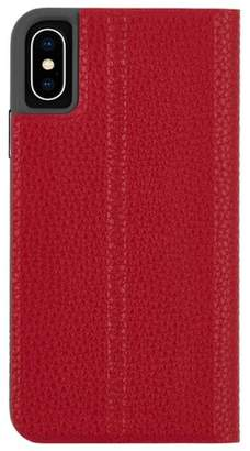 Barely There Case-Mate iPhone Xs Folio Cardinal Case