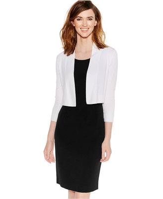 Calvin Klein Cropped Open-Front Cardigan $39.98 thestylecure.com