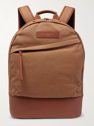 WANT Les Essentiels Kastrup Leather-Trimmed Shell Backpack - Men - Brown