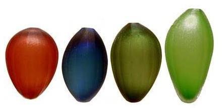 Arcade Glass - semi vases by laura de santillana for arcade