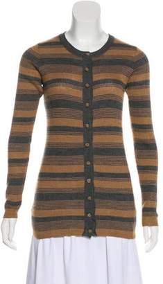 Dolce & Gabbana Striped Button-Up Cardigan