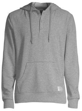 2xist Hooded Henley Sweatshirt