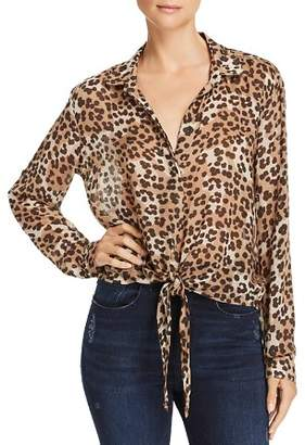 Bella Dahl Tie-Front Leopard Print Shirt