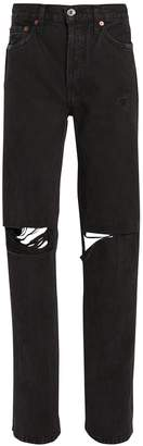 RE/DONE High-Rise Loose Black Jeans