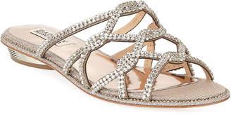 1d0f85eaaa90 Badgley Mischka Sofie Embellished Flat Slide Sandals