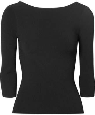 Vince Stretch-knit Top - Black