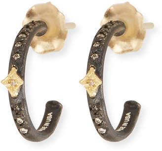 Armenta Old World Midnight Mini Diamond Huggie Hoop Earrings