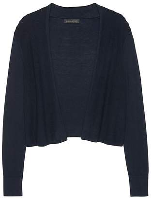 Banana Republic Silk Cotton Cropped Cardigan Sweater