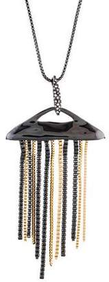 Alexis Bittar Two-Tone Fringe Pendant Necklace