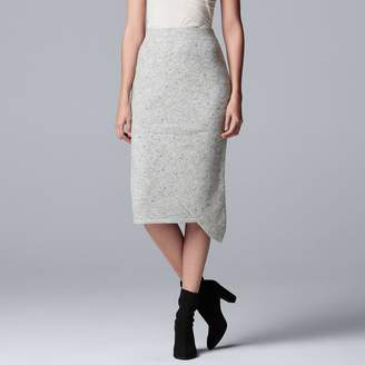 Vera Wang Women's Simply Vera Asymmetrical Sweater Skirt