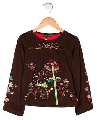 Oilily Girls' Embroidered Long Sleeve Top w/ Tags