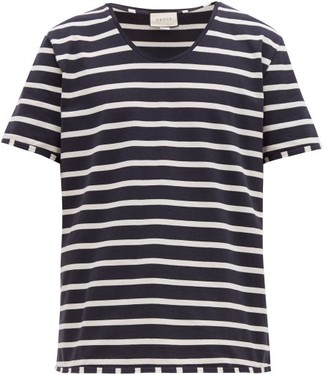 Gucci Striped Cotton Jersey T Shirt - Mens - Black White