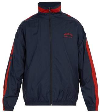 Perry Ellis America Embroidered Zip Up Track Jacket - Mens - Navy