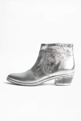 Zadig & Voltaire Pilar Low Ankle Boots