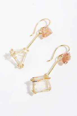 Variance Objects Stone Drop Earrings With Topaz Hooks
