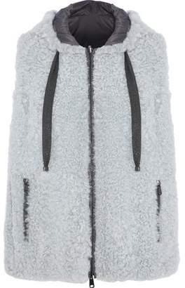 Brunello Cucinelli Bead-Embellished Shearling Vest
