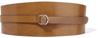Isabel Marant Cajou Leather Waist Belt - Dark brown