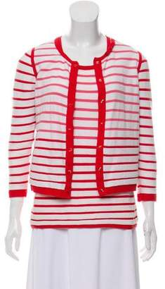 Paule Ka Lightweight Striped Cardigan Set